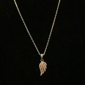 .925 Sterling Silver Necklace & Angel Wing Pendant